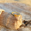 18ct Gold Ring With Citrine
