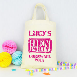 Personalised 'Hen Party' Bag