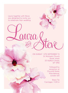 Floral Wedding Invitation Engagement Party