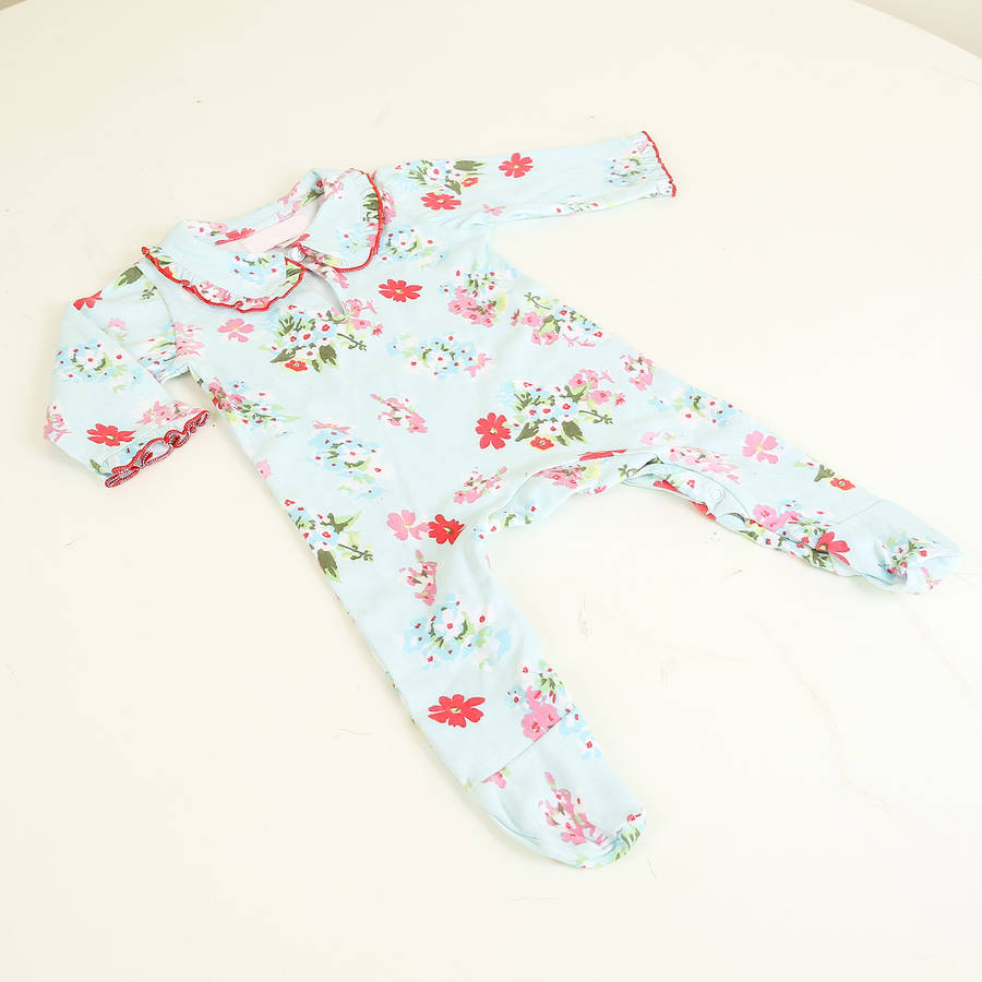 Summer Floral All In One Baby Grow