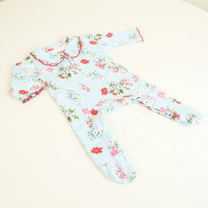 Summer Floral All In One Baby Grow - babygrows