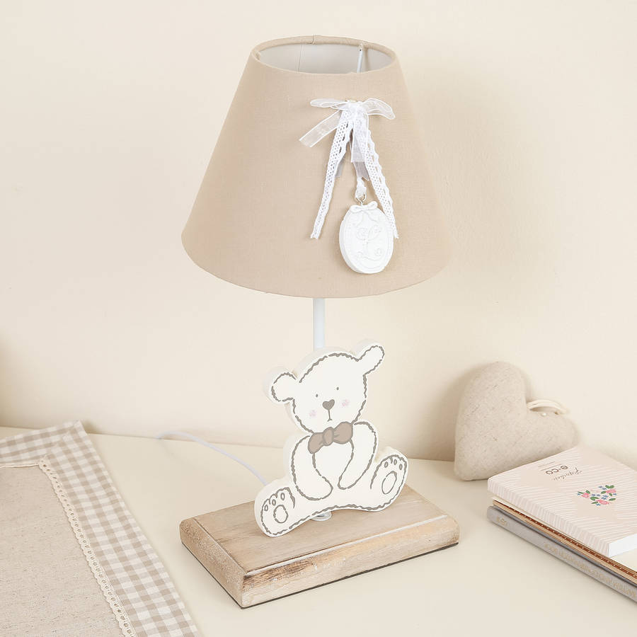 Adorable teddy bear nursery lamp by bebe beau notonthehighstreet adorable teddy bear nursery lamp aloadofball