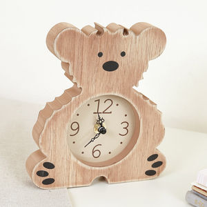 Children's Bedroom Teddy Bear Wooden Clock - bedroom