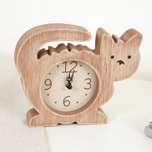 Children's Bedroom Kitty Wooden Clock - living room