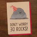30 Rocks Birthday Card