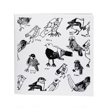 Birds Handprinted Card