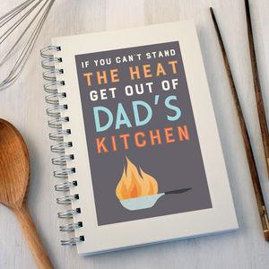 Personalised Cooking Heat Notebook