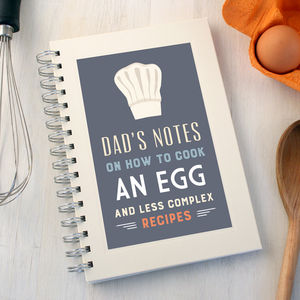 Personalised Chef's Hat Notebook - notebooks & journals