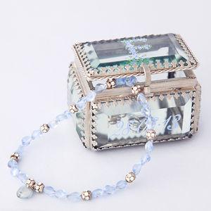Handpainted Monogrammed Glass Jewellery Box - jewellery storage & trinket boxes