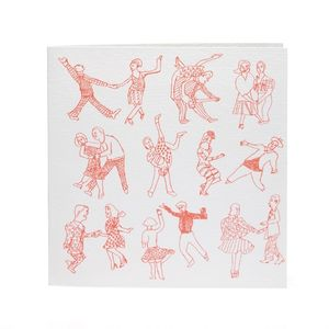 Dancers Handprinted Card