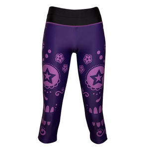 Ladies Three/Four Fitness Capri Tights - women's fashion