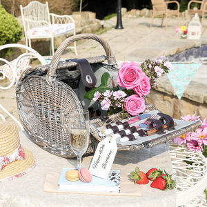 40th Birthday Present Luxury Two Person Picnic Basket