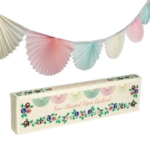 Pastel Fan Shaped Paper Garland