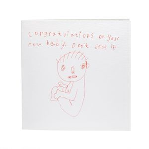 Congratulations On Your New Baby, Don't Drop It Card