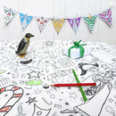 Colour-in Tablecloth - Christmas