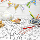 Colour-in Tablecloth - Teatime