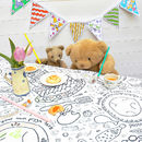 Colour-in Doodle Dinnertime tablecloth