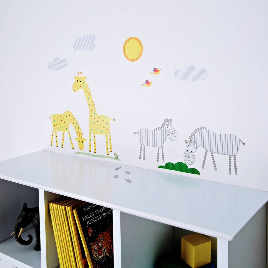 childrens safari wall stickers by kidscapes children s learning to count educational wall stickers