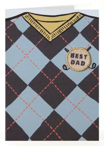 Best Golfing Dad Iron O Patch Card