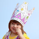 Colour-in Party Hat - Princess