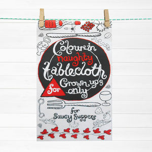 Colour In Adults Only Tablecloth *Personalise It - sale