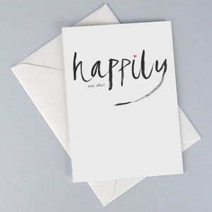 'Happily Ever After' Card - wedding cards & wrap