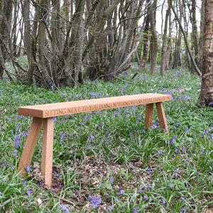 Contemporary Bench - personalised wedding gifts