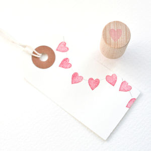 Tiny Heart Hand Carved Rubber Stamp - toys & games