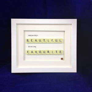 'Every Love Story Is Beautiful' Scrabble Art