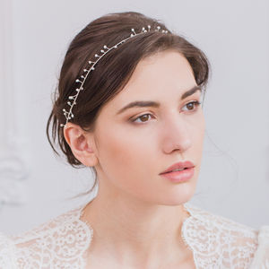 Pearl Wedding Hair Vine - head pieces