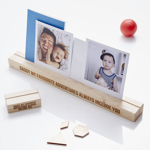 Favourite Adventures Photo Block For Him - picture frames
