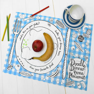 Colour In Doodle Placemat Choice Of Two - fancy dress