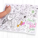 Colour In Doodle Placemat Choice Of Two