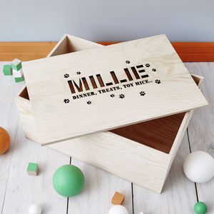 Personalised Pet Storage Crate - gifts for your pet