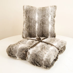 Snow Lynx Faux Fur Collection - cushions
