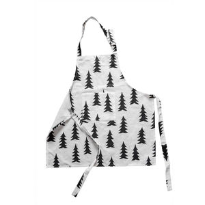 Fir Tree Graphic Childs Apron Linen Cotton Blend - aprons