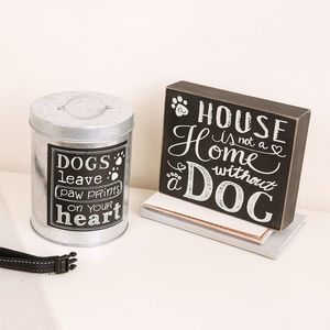Dog Treat Tin And Plaque