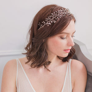 Crystal Wedding Hair Vine In Silver - tiaras & hair combs