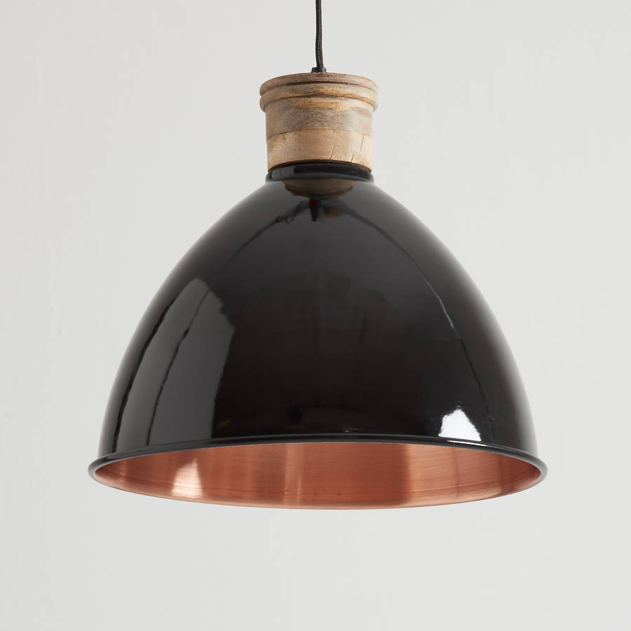 Black And Copper Pendant Light By Horsfall Amp Wright
