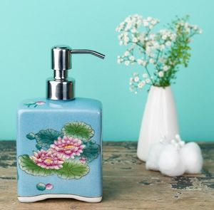 Hand Painted Ceramic Soap Dispenser - bathroom
