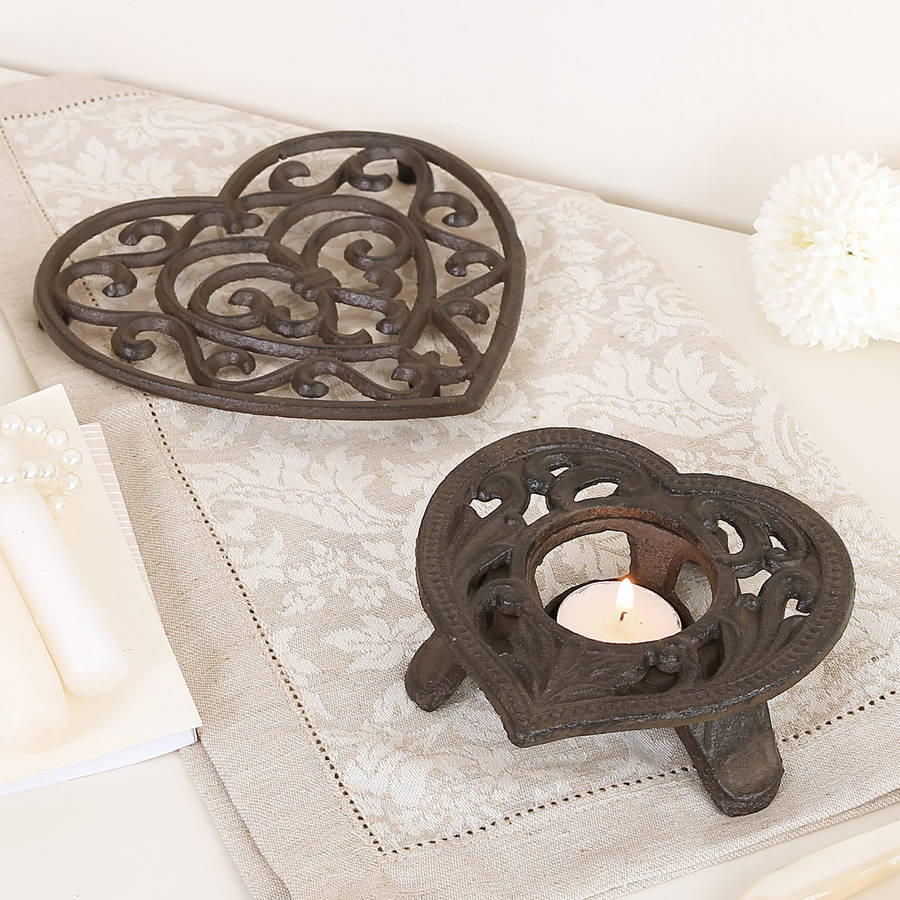 Personalised Trivet And Candle Holder Gift Set By Dibor
