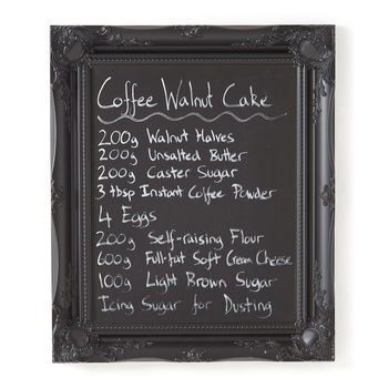 Ornate Black Framed Blackboard Chalkboard