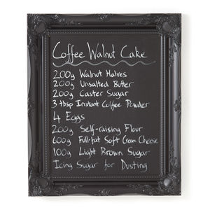 Ornate Black Framed Blackboard Chalkboard - decorative accessories