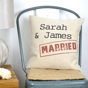 Married Stamp Cushion Cover