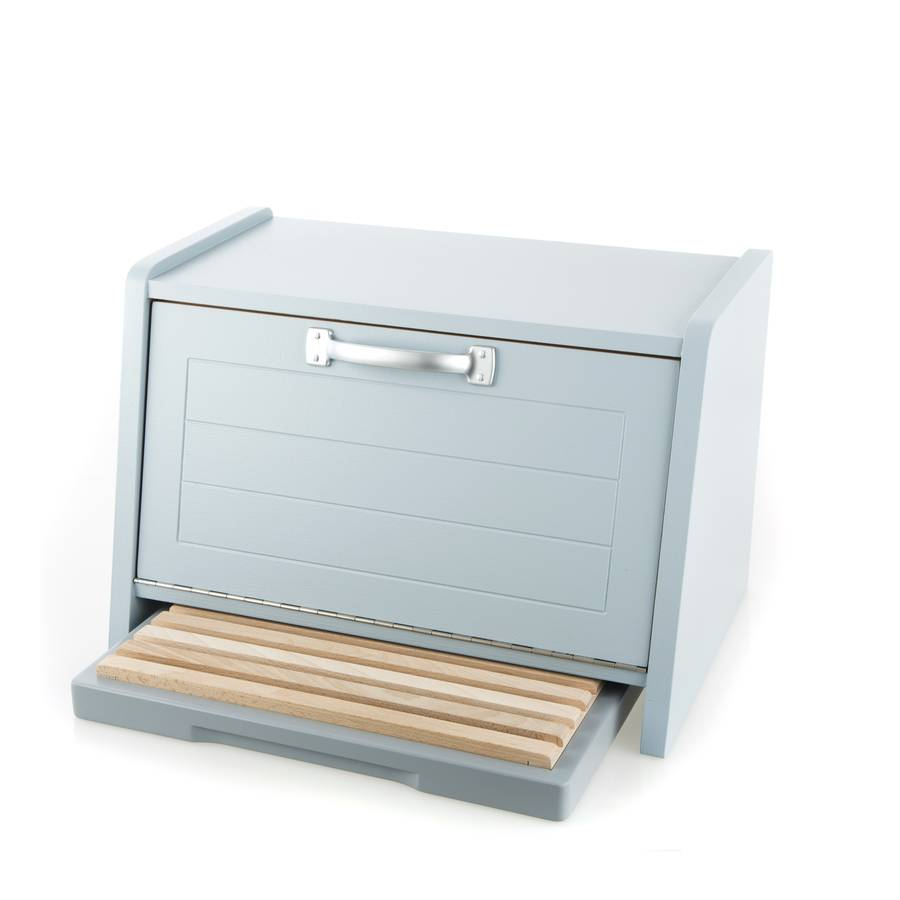 Painted Bread Bin And Bread Board Set