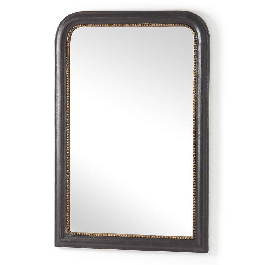 Black wood framed mirror by horsfall wright for Wood framed mirrors