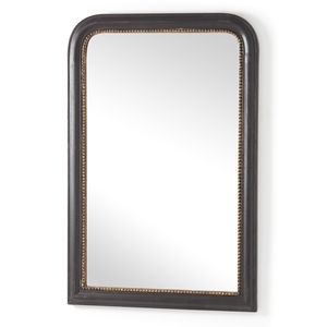 Black Wood Framed Mirror - mirrors