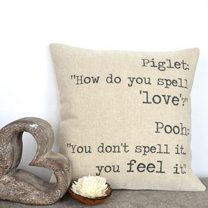 Personalised Typography Cushion Cover - living room