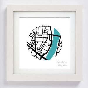 Personalised Map Art Circle