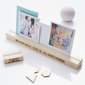 Personalised Wedding Gift Wooden Photo Block - table decorations